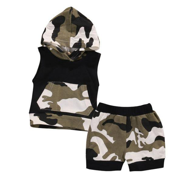 Camouflage Hooded Set