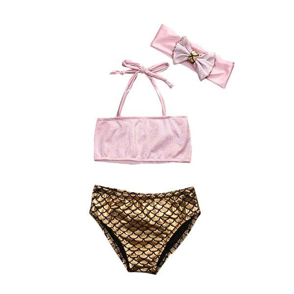 Pink Mermaid Bikini Set
