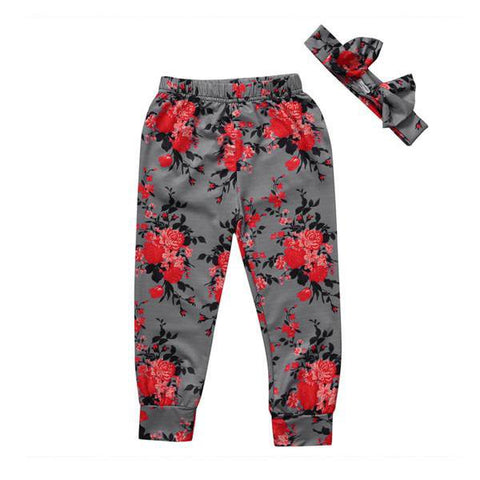Floral Leggings and Headband Set