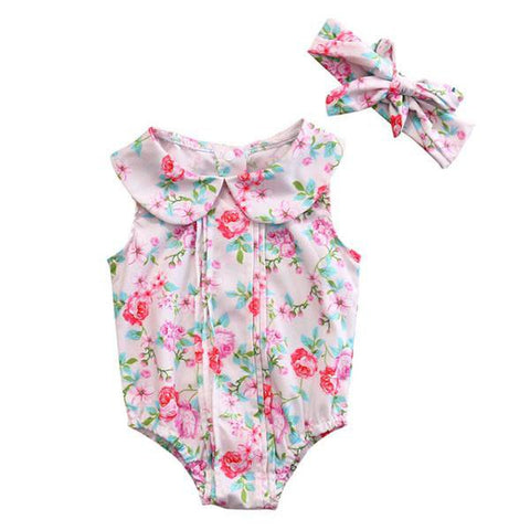 Mildred Floral Romper Set