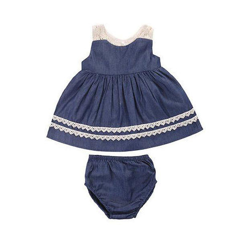 Denim Bloomers Set
