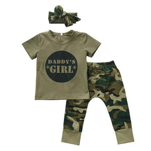 Daddy's Girl Camo Set by Elsewhereshop