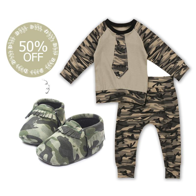 Liam Camouflage Set + 50% OFF Moccasins