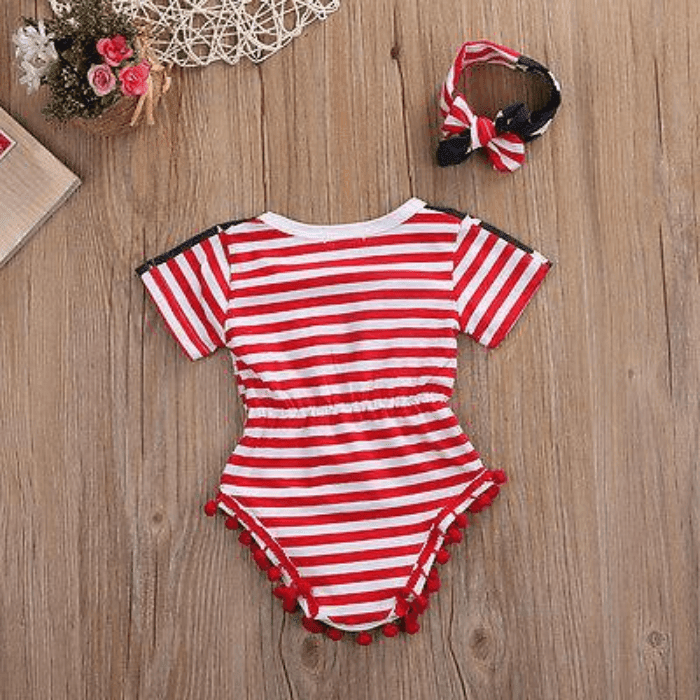 American Flag Romper Set by Elsewhereshop