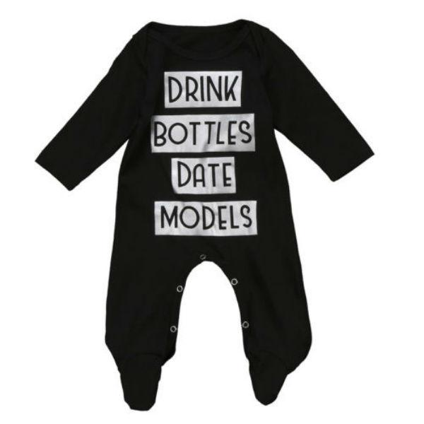 Drink Bottles Date Models Jumpsuit