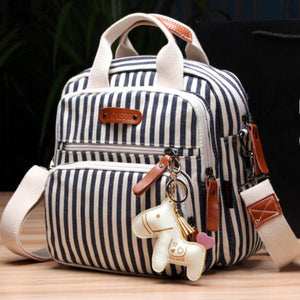 Stripes Convertible Diaper Bag