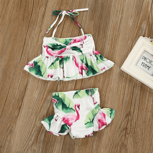 Flamingo Tankini Swimsuit by Elsewhereshop