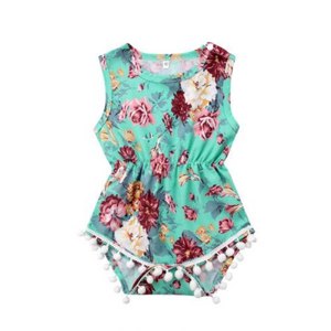 Haley Floral Romper by Elsewhereshop
