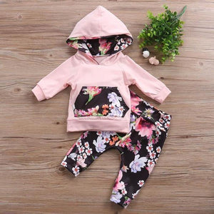 Addison Floral Hoodie Set by Elsewhereshop