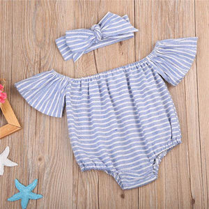 Makayla Stripes Romper Set