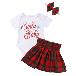 Santa Baby Checkered Set by Elsewhereshop