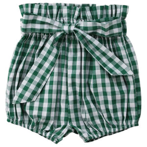 Plaid Bowknot Shorts by Elsewhereshop