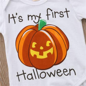Pumpkin Halloween Romper by Elsewhereshop