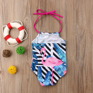 Flamingo Haltered Swimsuit by Elsewhereshop