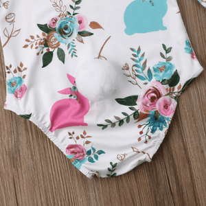 Aerie Bunny Floral Romper by Elsewhereshop