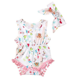 Akira Llama Romper and Headband Set by Elsewhereshop
