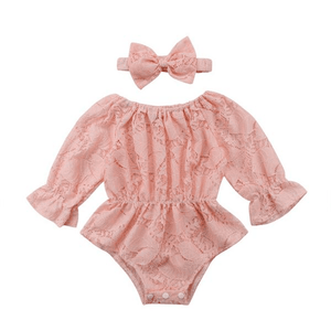 Alana Floral Lace Romper by Elsewhereshop