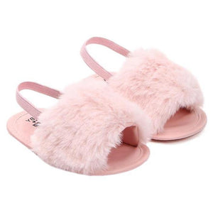 Amaia Faux Fur Sandals by Elsewhereshop
