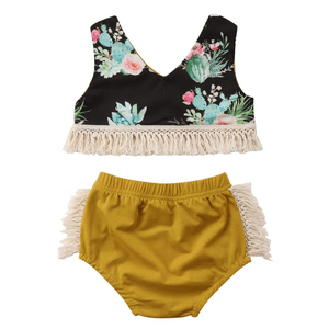 Avery Cactus Top and Shorts Set by Elsewhereshop