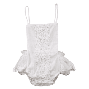 Helena Lace Floral Romper