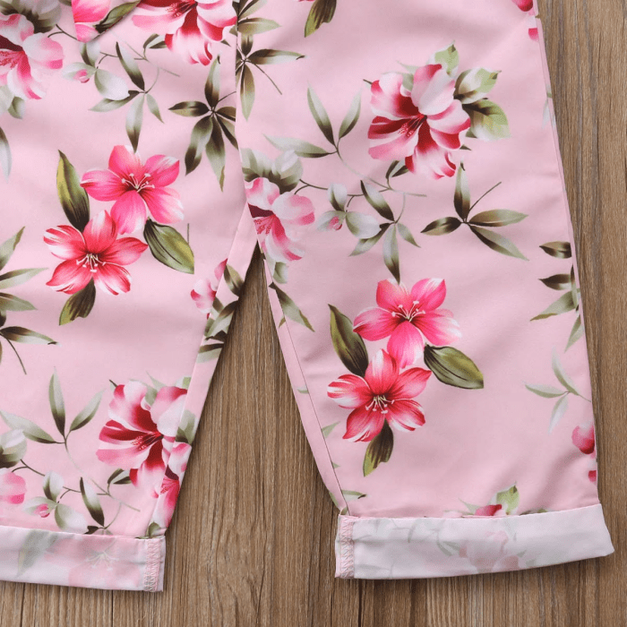 Breyann Floral Top and Pants Set by Elsewhereshop