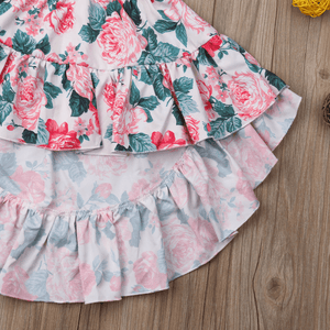 Chandria Top and Floral Skirt Set by Elsewhereshop