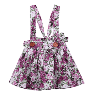 Chizuru Purple Floral Skirt
