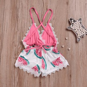 Cynthia Watermelon Romper by Elsewhereshop