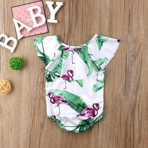 Flamingo Collared Swimsuit by Elsewhereshop