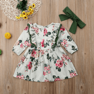 Demi Floral Dress and Headband Set by Elsewhereshop