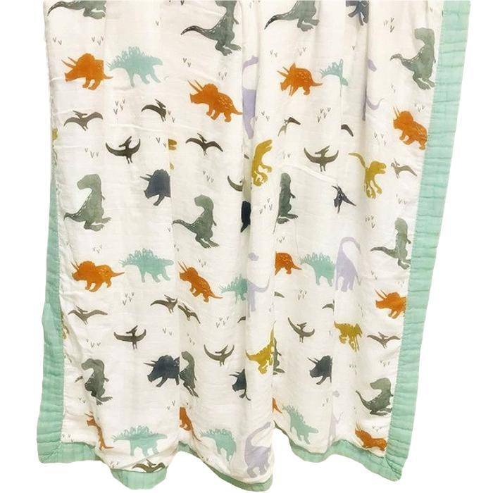 Dino Muslin Swaddle Blanket by Elsewhereshop