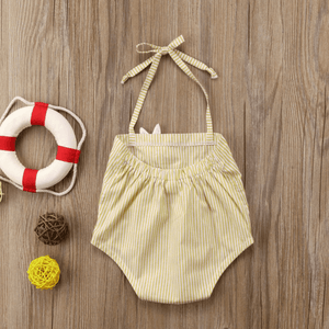 Claire Haltered Sunsuit by Elsewhereshop