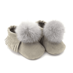 Pom Pom Crib Moccasin by Elsewhereshop