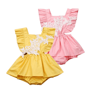 Elena Laced Sunsuit by Elsewhereshop