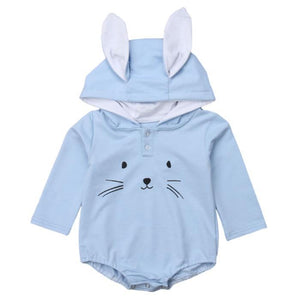 Ethan Hooded Bunny Romper by Elsewhereshop