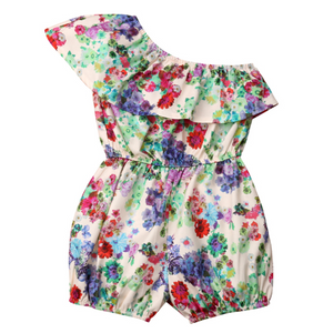 Gabrielle Floral One Shoulder Jumpsuit by Elsewhereshop