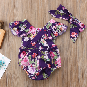 Genevieve Floral Romper Set by Elsewhereshop