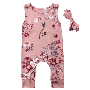 Giselle Floral Jumpsuit and Headband Set by Elsewhereshop
