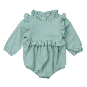 Gwen Long Sleeves Ruffled Romper by Elsewhereshop