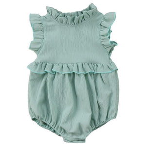 Gwen Sleeveless Ruffled Romper by Elsewhereshop