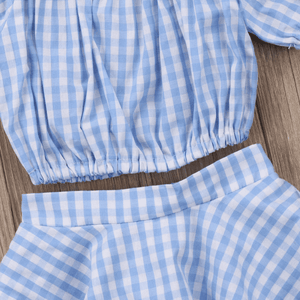 Haven Off Shoulder Top and Skirt Plaid Set by Elsewhereshop