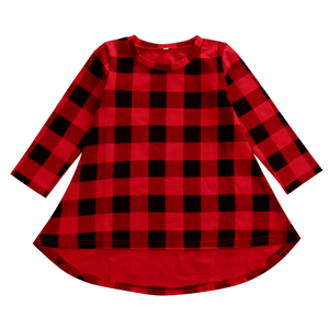 Zoey Red Plaid Dress by Elsewhereshop