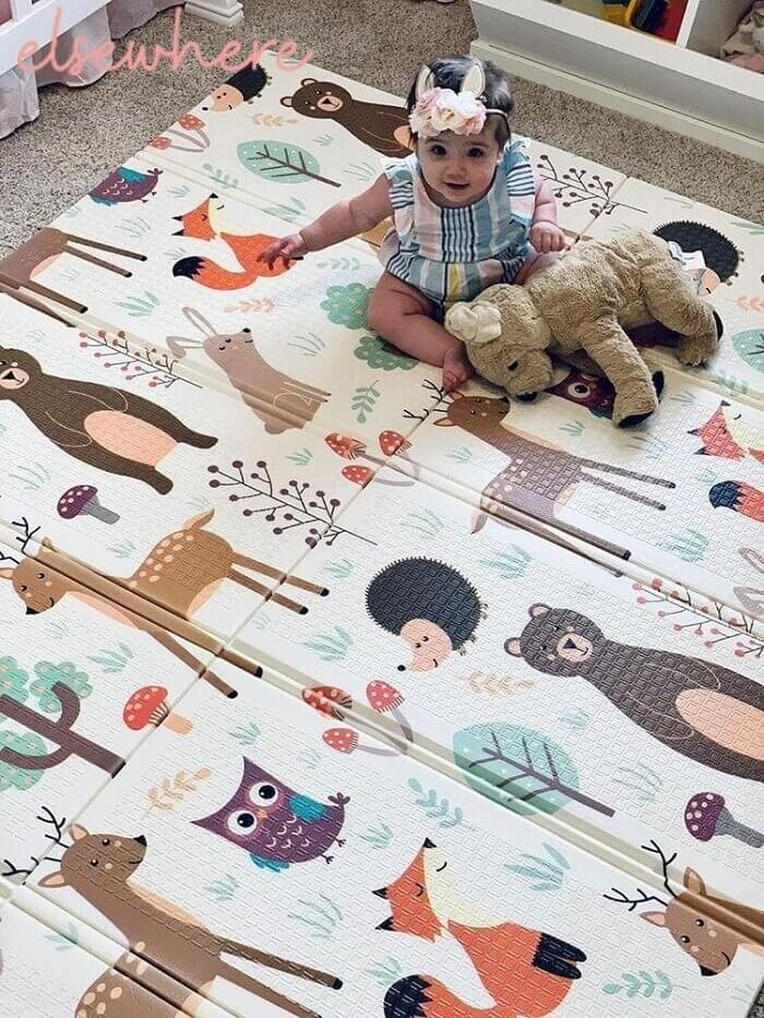 In The Wild Folding Play Mat by Elsewhereshop