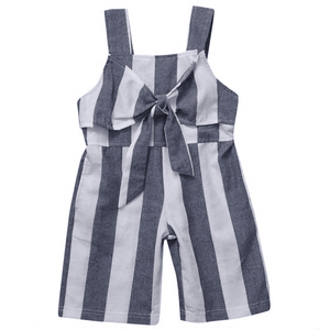 Keyondra Bowknot Stripes Jumpsuit by Elsewhereshop