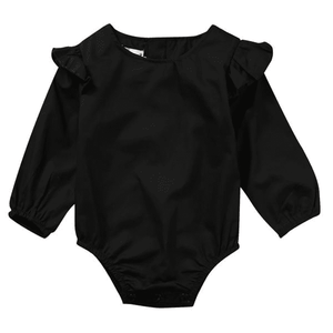 Leila Lotus Sleeve Romper by Elsewhereshop