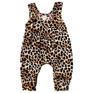 Leopard Sleeveless Jumpsuit by Elsewhereshop