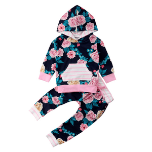 Lily Floral Hoodie Set by Elsewhereshop