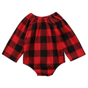 Mathilda Red Plaid Romper by Elsewhereshop