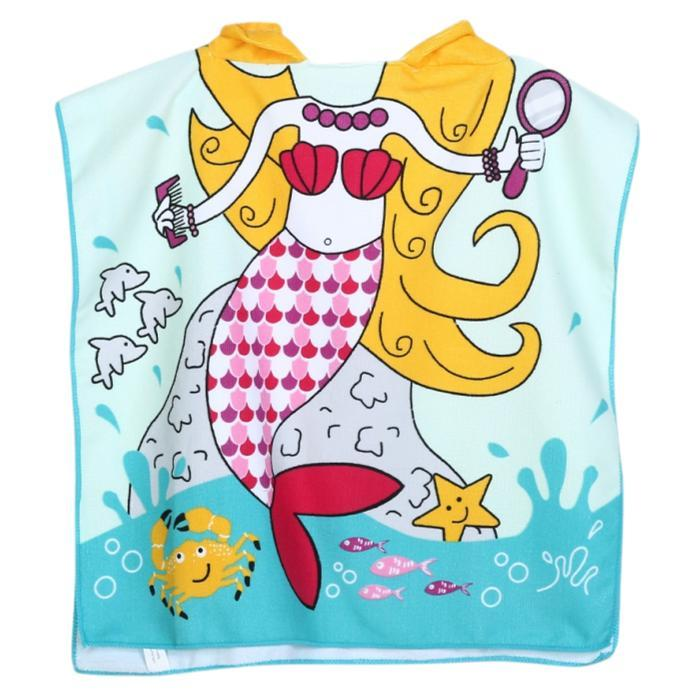 Mermaid Hooded Bath Towel by Elsewhereshop
