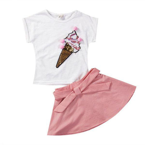 Ice Cream Skirt Set